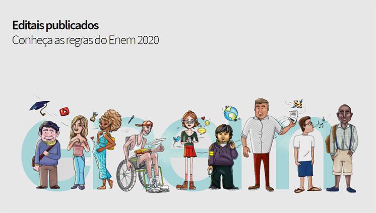 Inep divulga editais do Enem 2020