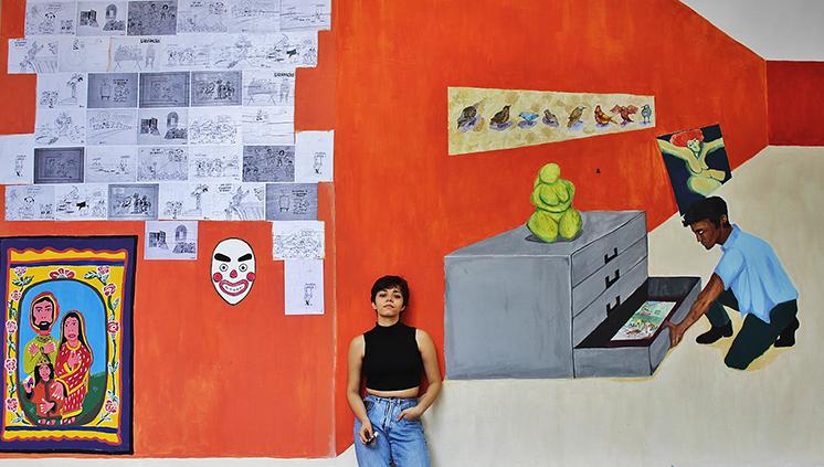Obra de alunos da Faculdade de Artes Visuais ilustra mural no Museu da UFPA