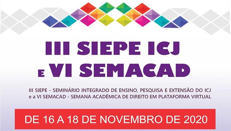 Instituto de Ciências Jurídicas inscreve para eventos virtuais de ensino, pesquisa e extensão
