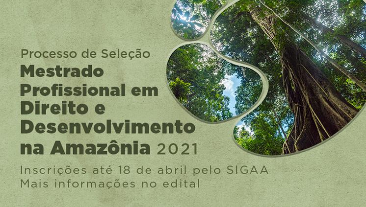 Mestrado Profissional em Direito e Desenvolvimento na Amazônia oferta vagas para servidores